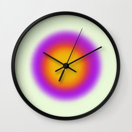Purple Sun Aura Circle Wall Clock