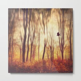 the art of falling apart - abstract trees in morning light Metal Print