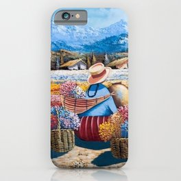 Peruvian Village Amid the Poppy and Calla Lily Fields in the Andes Mountains iPhone Case