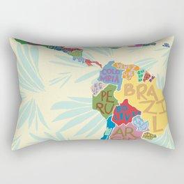Map. Mapa. Carte. Rectangular Pillow
