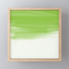 Green abstract brush strokes pattern Framed Mini Art Print