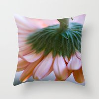 blush Throw Pillows featuring Blush by The Dreamery