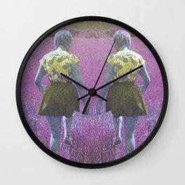 A walk through the grass Wall Clock