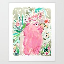 ROSITA the Galah Cockatoo Art Print