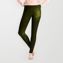 Metallic strokes with chaotic canary lines from intersecting glowing neon stripes. Leggings