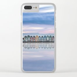 Rainbow houses in Netherlands Clear iPhone Case