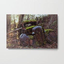 Mossy Abandoned Truck Metal Print
