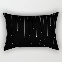 WHITE LITTLE RAIN Rectangular Pillow