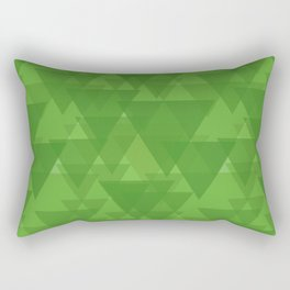Gentle green triangles in intersection and overlay. Rectangular Pillow