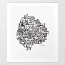 Buenos Aires Map Art Print