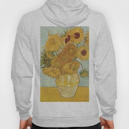 Vase with Twelve Sunflowers, Van Gogh Hoody