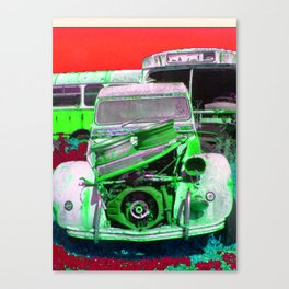 2CV - Resting in Pieces Canvas Print