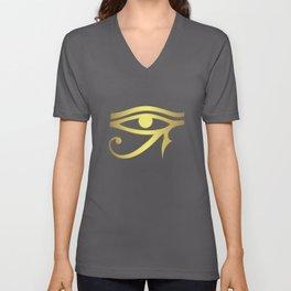 Eye of horus Egyptian symbol Unisex V-Neck