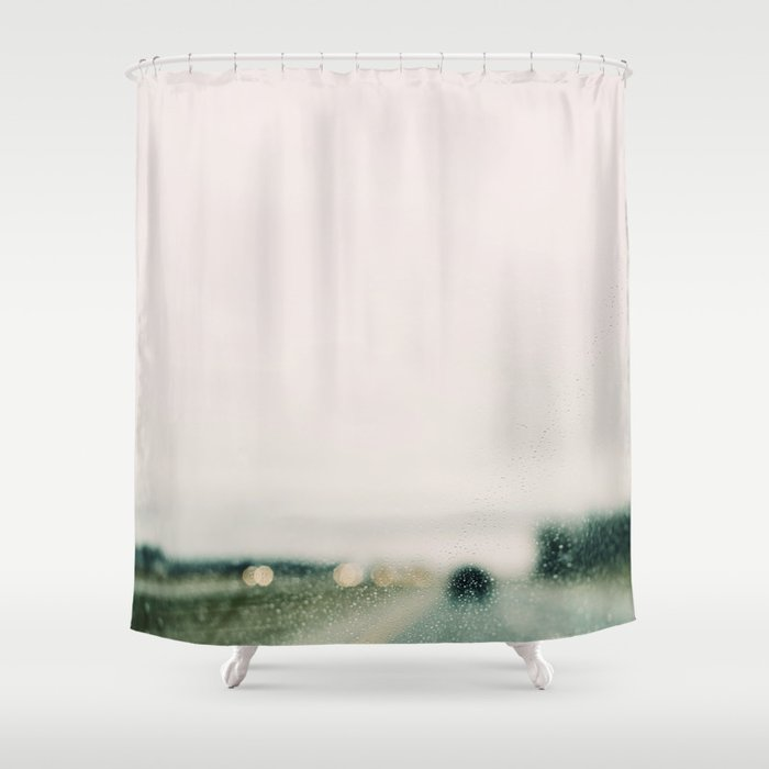 Road And Rain Shower Curtain By Aliciabock