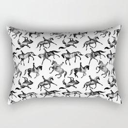 Dressage Horse Silhouettes Rectangular Pillow