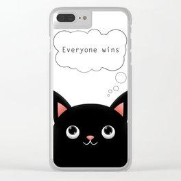 Winning Cat Clear iPhone Case