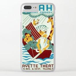Vintage poster - Noah's Ark Clear iPhone Case
