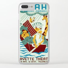 Vintage poster - Noah's Ark Clear iPhone Case