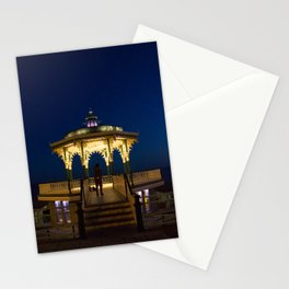 Brighton Bandstand at Night Stationery Cards