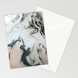 Abstract marble effect painting Stationery Cards