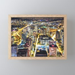Voyeuristic 1564 Vancouver Cityscape Granville & Burrard Bridge Artery - British Columbia Canada Framed Mini Art Print