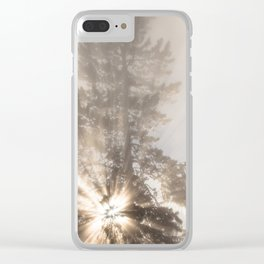Winter Tree - Yellowstone Clear iPhone Case