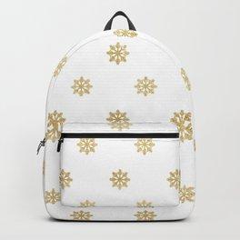 Gold Glitter Snowflake Backpack