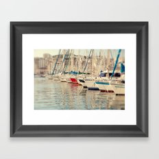 Marseille Harbor Framed Art Print