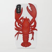 lobster iPhone & iPod Cases featuring Lobster by Fischer Fine Arts