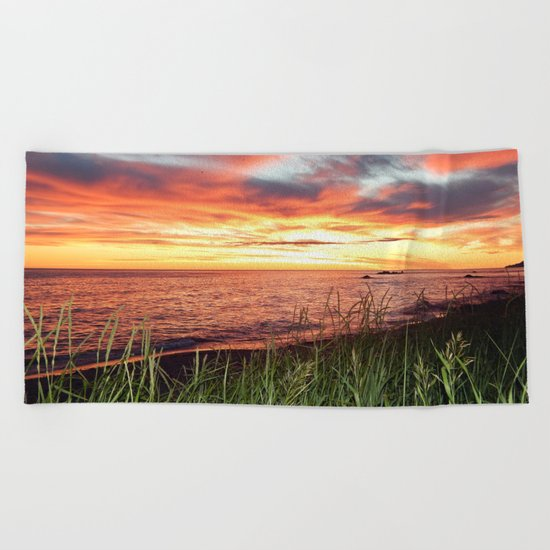 Dawn and the Grass Beach Towel