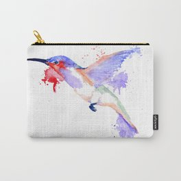 Watercolor Hummingbird Painting Carry-All Pouch