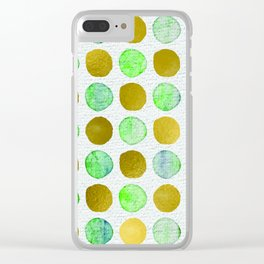 Spotting Gold Clear iPhone Case