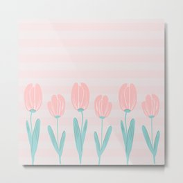 tulips and stripes Metal Print