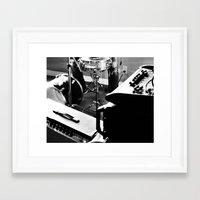 drums Framed Art Prints featuring Drums by Flashbax Twenty Three