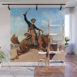 "Frederic Remington Western Art ""The Buck Jumper"" Wall Mural"