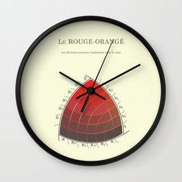 Le Rouge-Orangé (ses diverses nuances combinées avec le noir) Remake Wall Clock