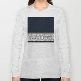 Rich Indigo Diamond Pattern Long Sleeve T-shirt