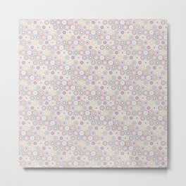 Colorful Circle Flower Mosaic Pattern Metal Print