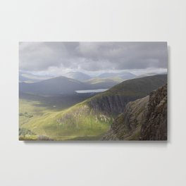 Billowing clouds over the Buichaille Metal Print
