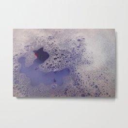 Violet Bubbles Metal Print