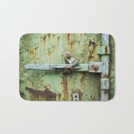 Rusty, worn and weathered Bath Mat