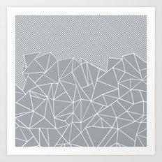 Ab Linear Grey Art Print