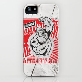 Mayhem Ape (Black on Red) iPhone Case