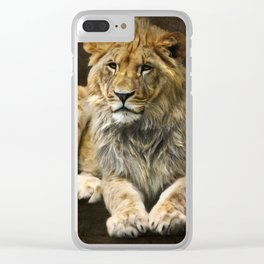 The young lion Clear iPhone Case