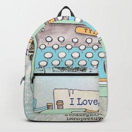 Typewriter #8 Backpack