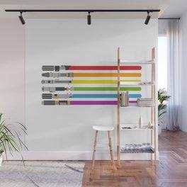 Lightsaber rainbow Wall Mural