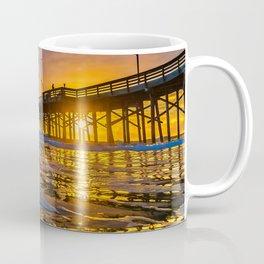 Low Angle Sunset at Newport Pier Coffee Mug