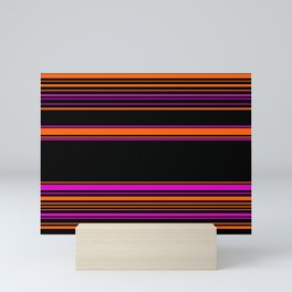 Halloween with style - elegant stripes in holiday colors Mini Art Print