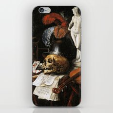 Vintage Vanitas- Still Life with Skull 3 iPhone & iPod Skin