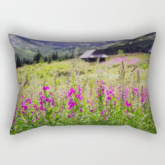 Fireweed In The Mountains Rectangular Pillow